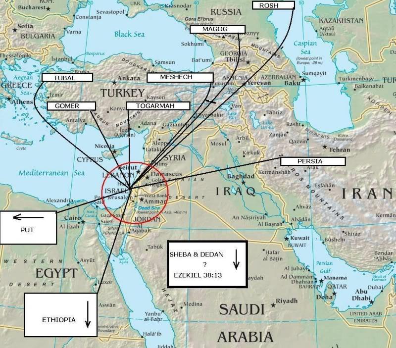 Libya Put Prophecy Unfolding - Map of egypt libya